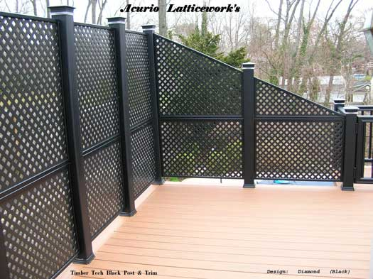 lattice used as privacy screen on deck