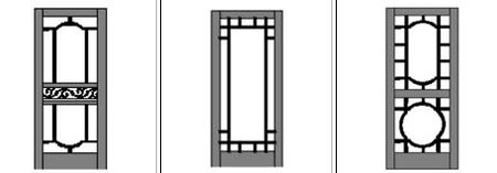 Wood Screen Door with lattice designs
