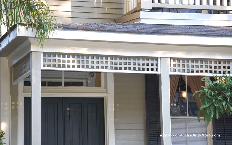 exterior front door trim molding. lattice used as exterior house trim front door molding