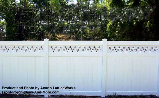 lattice fence design example