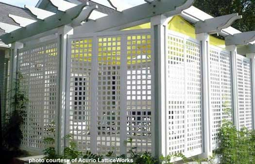 Spectacular vinyl lattice used to make porch enclosure