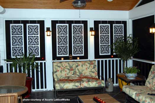 Vinyl Lattice Panels Black Privacy