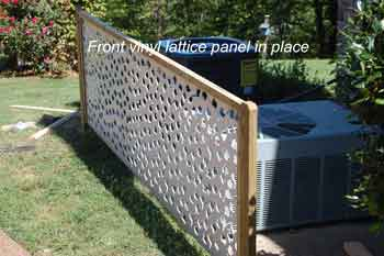 vinyl lattice fence panels. Brilliant Vinyl Front Vinyl Lattice Panels Are In Place On Vinyl Lattice Fence Panels V