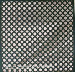 lattice fence design - Black Circle