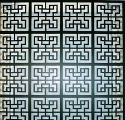 lattice fence design - Black Chinese