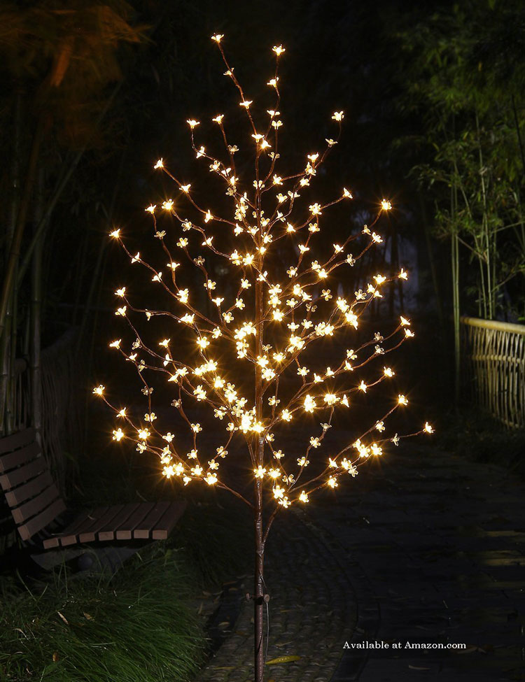 LED lighted holiday tree for indoors or out