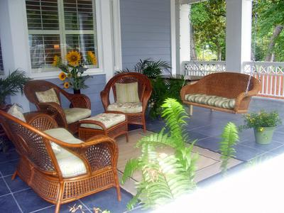 Lovely summer side porch