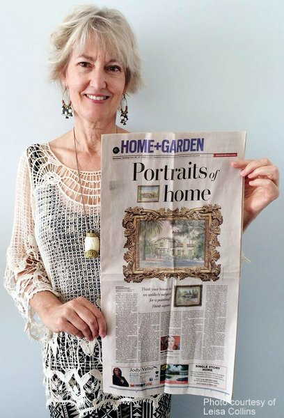 Professional artist, Leisa Collins, featured in Los Angeles Daily News