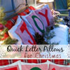 pillow covers with christmas letters