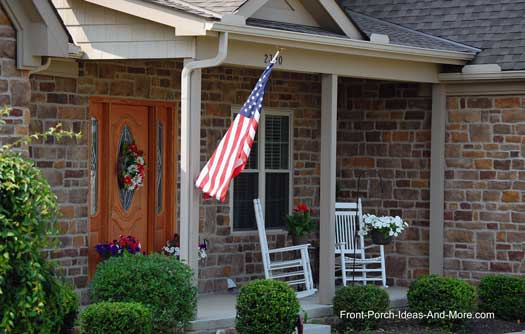 charming front porch in Lewis Center OH