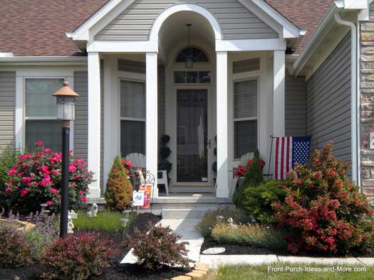 Landscaping Front Porch Ideas : Lewis center ohio front yard landscaping porch designs
