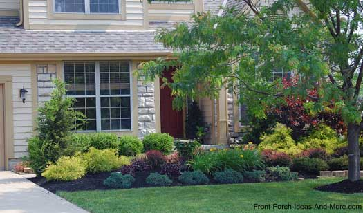Landscaping Ideas For A House With A Front Porch : Lewis center ohio front yard landscaping porch