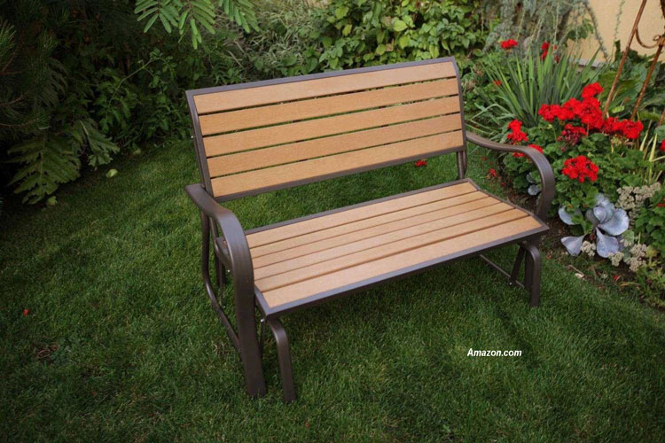 Lifetime 60055 Glider Bench, 4 Feet, Faux Wood from Amazon