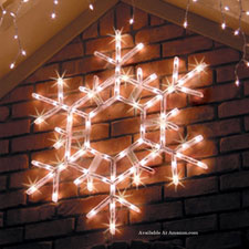 led lighted snowflake decoration
