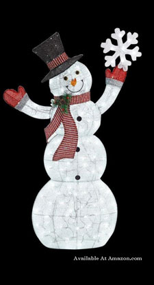led lighted snowman yard decoration