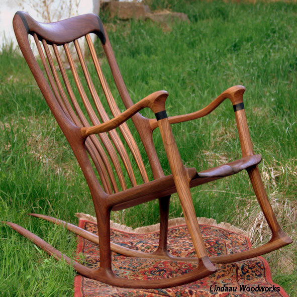 Bill Landau Hand Crafted Wood Rocking Chair