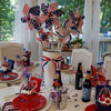 porch table decorated for the 4th of july