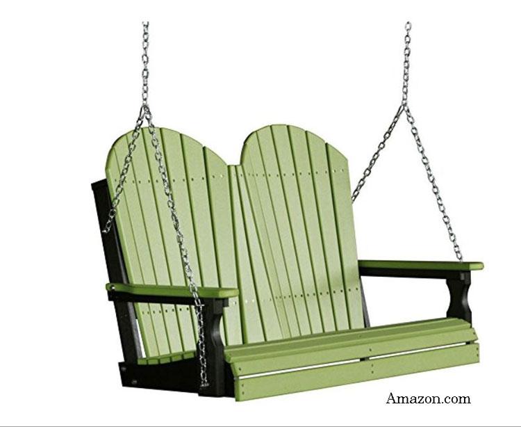 green polywood adirondack swing from Amazon.com