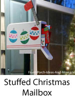 fun holiday mailbox with letters