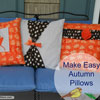 guide to making autumn pillow covers