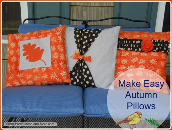 Pillow Cover Pattern For Autumn How To Make A Pillow Cover Gorgeous Making Pillow Covers