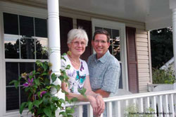 Mary and Dave on the porch