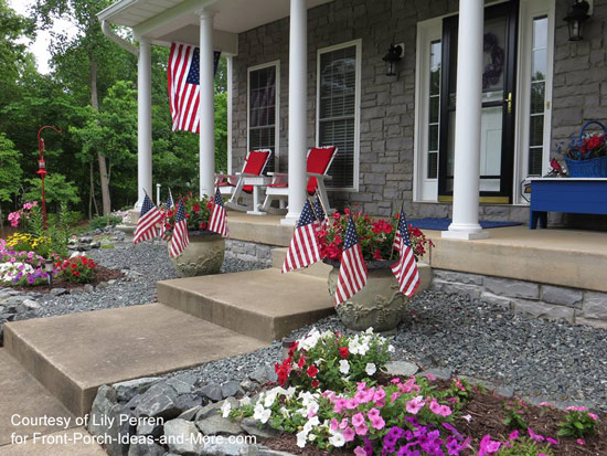 Lily has her porch ready for Memorial Day