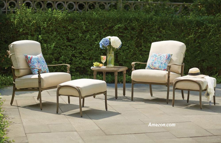 Hampton Bay outdoor ottomans from Amazon.com