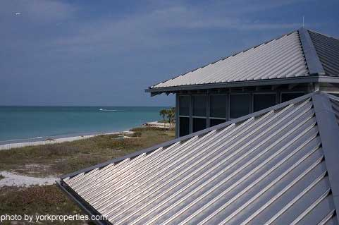 Stainless steel metal roof material - more expensive than steel but it will not rust