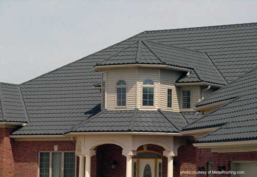 Steel metal roof material - most popular material for metal roofs