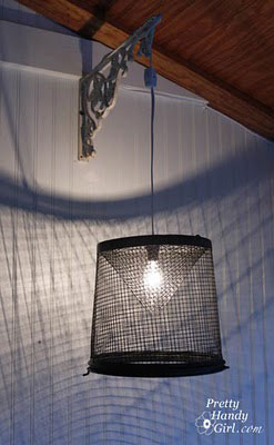 minnow trap lamp
