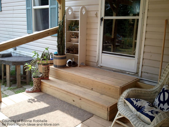 Mobile home porches for Wooden porches for mobile homes
