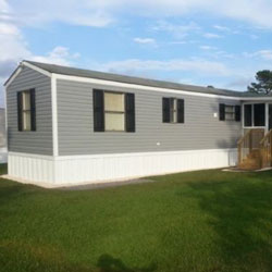updated siding on  mobile home