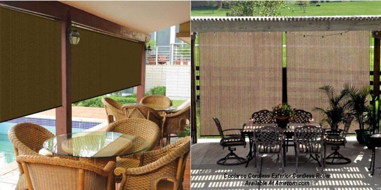 mocha colored porch shade available at Amazon.com