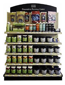 modern masters paint display