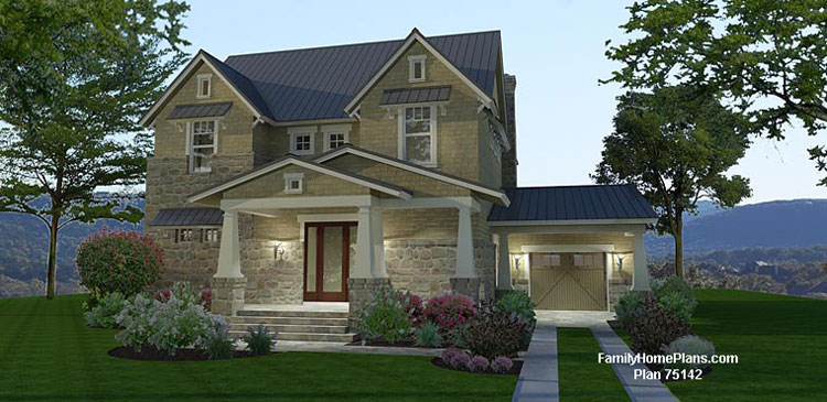 Charming online house plan that can be modified