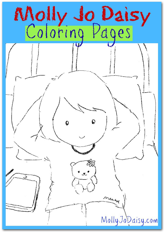 Molly Jo Daisy free coloring pages - downloadable