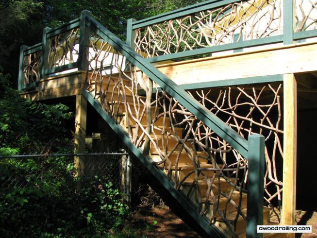 mt laurel custom design wood railings
