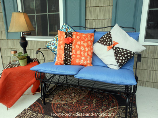 Our New Blue Outdoor Cushion Covers