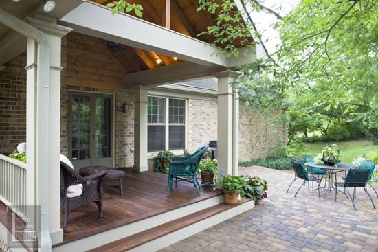 open air porch design by the porch company