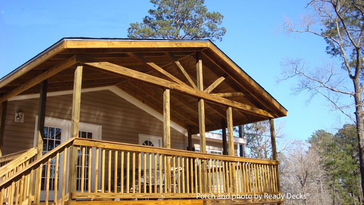 Great Open Gable Front Porch By Ready Decks®