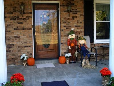 Our autumn front porch