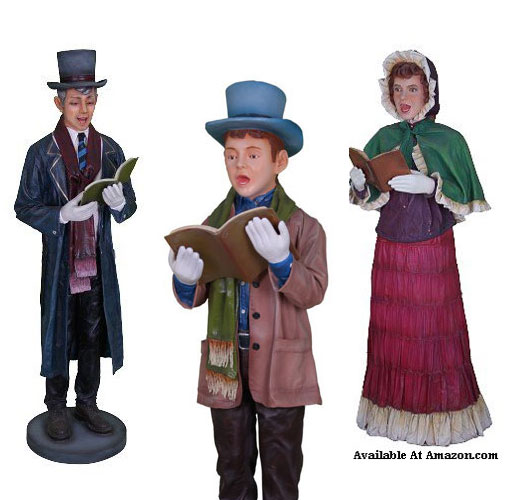 Christmas Carolers Yard Decorations: Outdoor Victorian Christmas Carolers