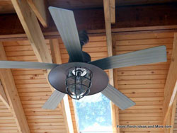 outdoor ceiling fan on porch ceiling