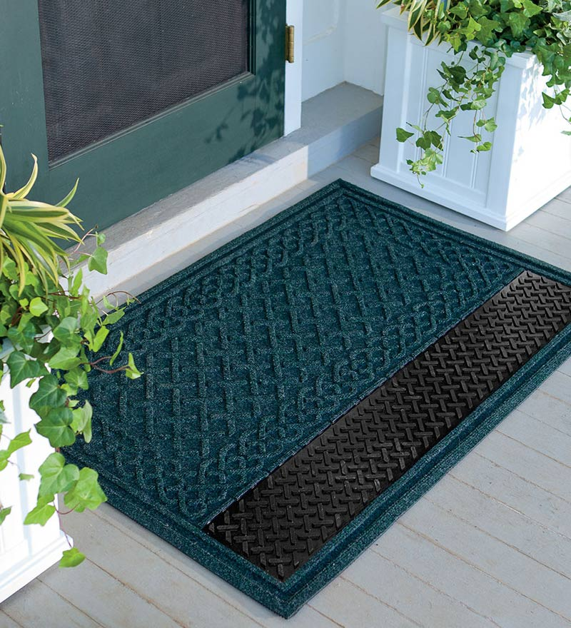 attractive outdoor door mat on front porch
