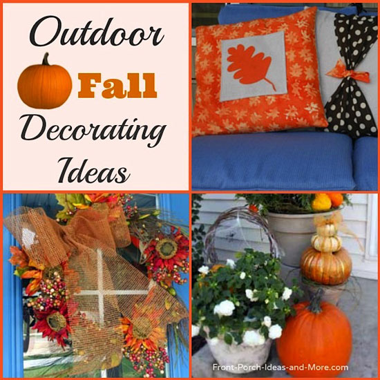 Outdoor fall decorating ideas for your front porch and beyond for Indoor fall decorating ideas