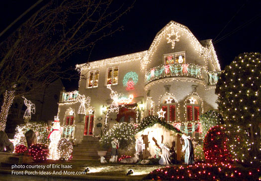 outdoor christmas light decorating ideas safety considerations nativity snowmen and lots of holiday lights