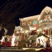 christmas light images of beautifully lit front porch