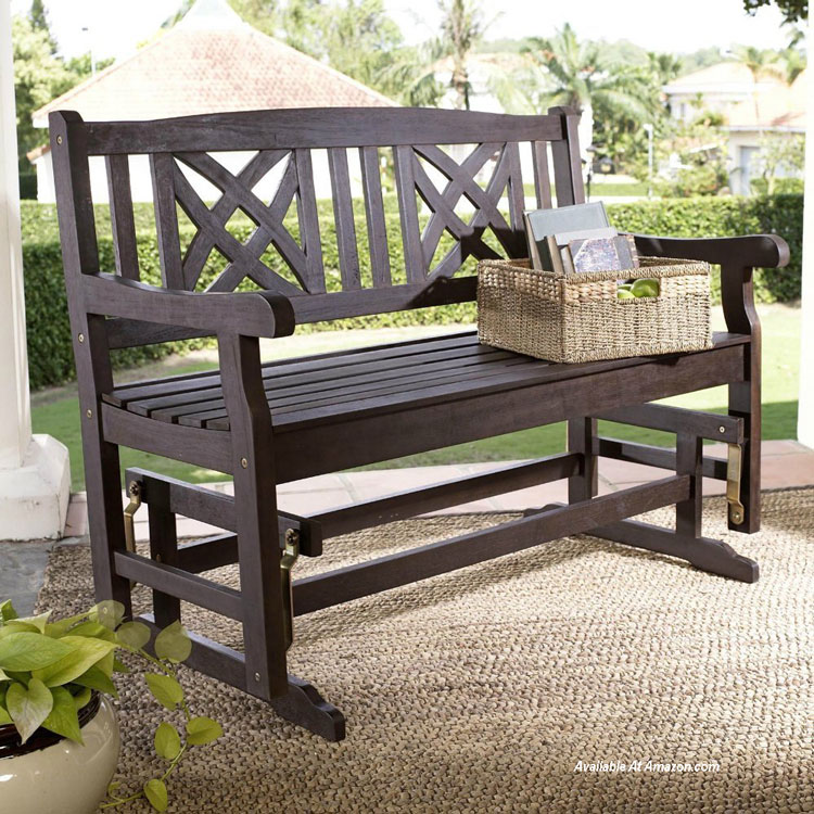 Outdoor Furniture Glider Wicker Glider Porch Gliders