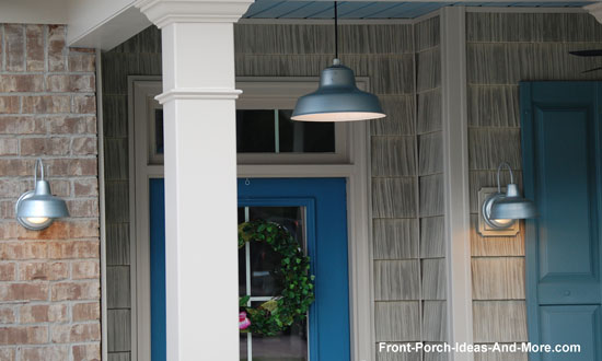 Hang porch lights for ambiance and safety we really like our new pendant porch light mozeypictures Choice Image